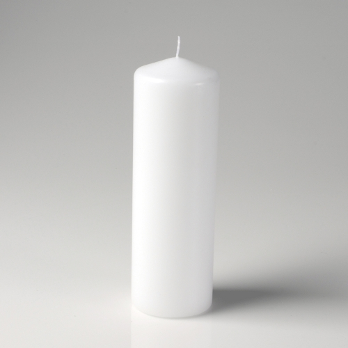 "3"" x 9"" Pillar Candle White Unscented"
