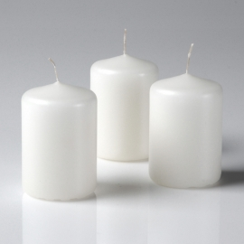 "3"" x 4"" Pillar Candle Ivory Unscented"