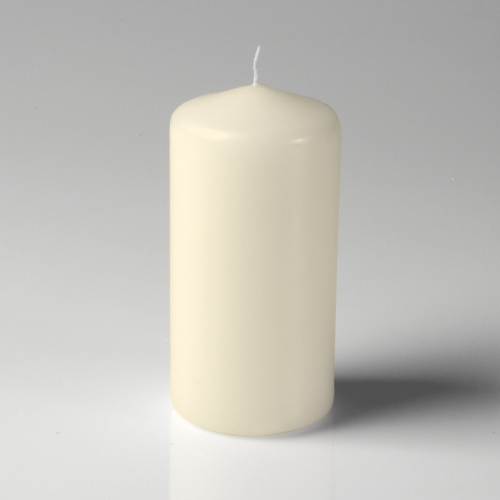 "3"" x 6"" Pillar Candle Ivory Unscented"