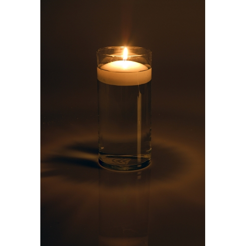"""3 x 1 3/16"""" Floater Candle Ivory"""