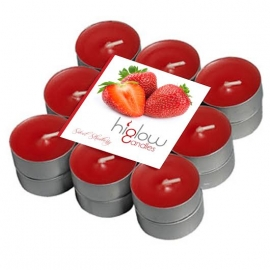 Scented Tea Lights - 18 Pack Sweet strawberry