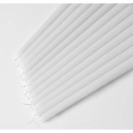 """12"""" Taper candles (White - Ivory) Case of 144"""