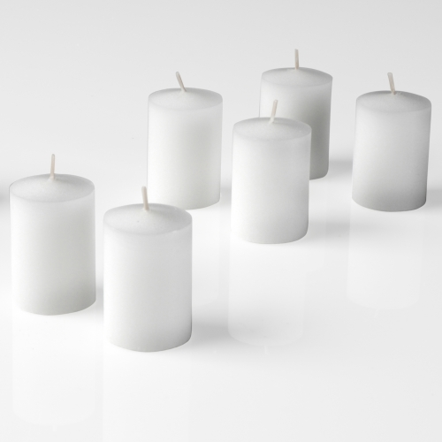 15 Hr Votives Candles Case of 144 White Unscented