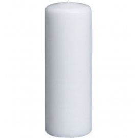 "2' x 6"" White Pillar Candle"