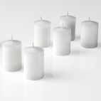 White Unscented Votive Candles 15 Hour set of 12'