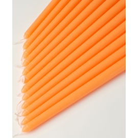"12"" Orange Taper Candles (1 Dozen)"