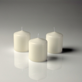3' x 4' Ivory Pillar Candle Unscented Set Of 6