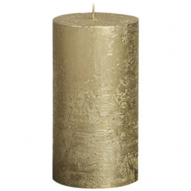 Gold Metallic Pillar Candle