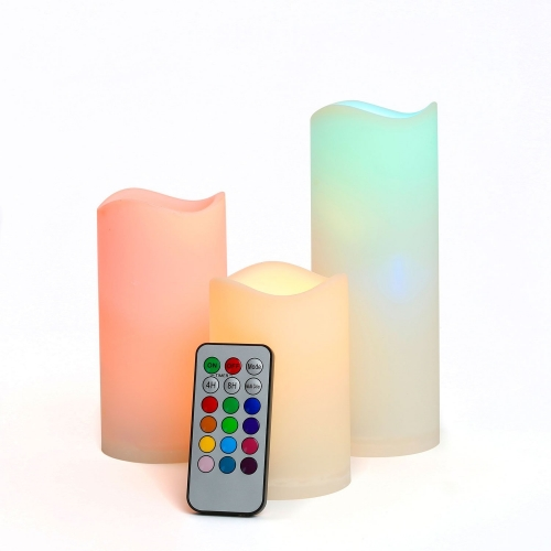 LED Flameless Wax Pillar Candles
