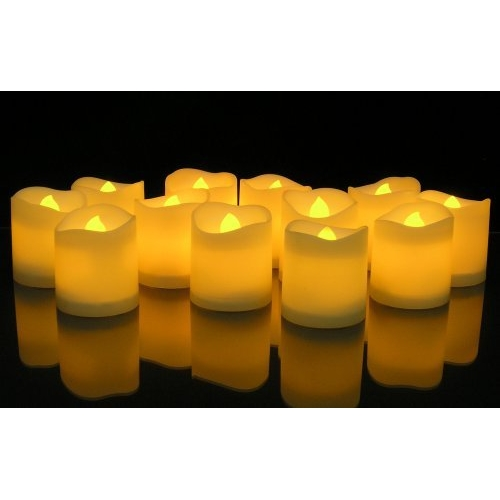 LED Votive Lighted Flickering Candles set of 12
