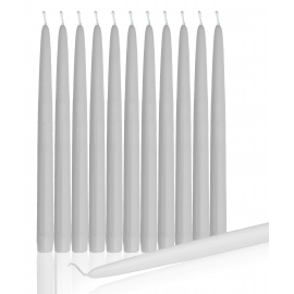 "10"" White Taper Candles (1 Dozen)"